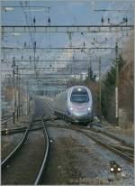 ETR 610/120801/ein-fsti-etr-als-ec-37 Ein FS/TI ETR als EC 37 von Genève nach Venezia S.L. erreicht Sion.  14.02.2011