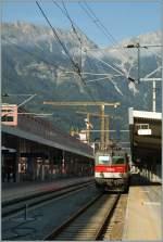 br-1044-1144/161135/vor-der-kulisse-der-nordkette-die Vor der Kulisse der Nordkette die ÖBB 1144 261 in Innsbruck Hbf.  15.09.2011