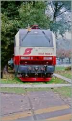 br-1822/153447/fabrikneu-und-schon-im-museum-die Fabrikneu und schon im Museum: die ÖBB 1822 003-8 wird im Verkehrshaus Luzern während den Modellbautagen ausgestellt. Oktober 1995