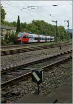 4024/160869/bei-weiche-7-richtung-lindau-unterwegs Bei Weiche 7 Richtung Lindau unterwegs: eine 'Ente' als S-Bahn Vorarlberg. 20.09.2011