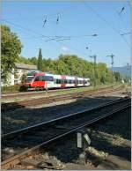 4024/164590/ein-et-4024-der-s-bahn-vorarlberg Ein ET 4024 der S-Bahn Vorarlberg auf dem Weg nach Lindau bei der Durchfahrt in Lindau Reutin.  21.09.2011