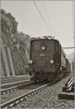 ae-4-7/155606/ae-47-10976-mit-einem-gueterzug Ae 4/7 10976 mit einem Güterzug in Ausserberg.  20. August 2011