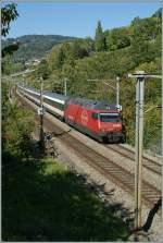 re-460-re-4-4-vi/143191/re-460-008-6-mit-ir-2527 Re 460 008-6 mit IR 2527 nach Luzern am 10. März 2010 zwischen Bossière und Grandvaux.