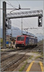 Die SBB Re 474 009 in Domodossola. 11. April 2015