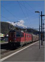 Die SBB Re 6/6 11641 in Aigle.