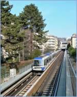 metro-lausanne/120836/die-mtro-zwischen-lausanne-bahnhof-und Die Métro zwischen Lausanne Bahnhof und Ouchy am 13.02.2011.