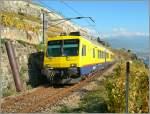 560-npz-und-domino/100042/train-des-vignes-zwischen-vevey-und 'Train des Vignes' zwischen Vevey und Chexbres am 19. Oktober 2007