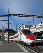 etr-610/109752/am-8-november-2010-verlaesst-der Am 8. November 2010 verlässt der SBB ETR 610 Lausanne als EC 39 Richtung Milano.