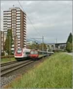 icn-rabde-500/101570/ein-icn-nach-stgallen-und-ein Ein ICN nach St.Gallen und ein Regio nach Biel/Bienne begegnen sich bei Grenchen. 19.10.2010