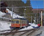 Der BLM Be 4/4 N° 31 in Mürren.