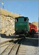 BRB/163272/brb-dampflok-n-6-auf-dem BRB Dampflok N° 6 auf dem Brienzer Rothorn.  1. Okt. 2011