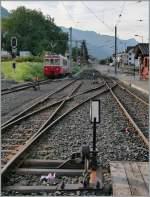 CEV/96734/blick-vom-bahnhof-blonay-richtung-chamby Blick vom Bahnhof Blonay Richtung Chamby; links im Bild steht abgestellt der CEV BDe 2/4 N° 73.