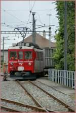 CJ/120557/der-cj-be-44-642-ex Der CJ Be 4/4 642 (ex RhB) beim Rangieren in La Chaux de Fonds am 19. Aug 2010