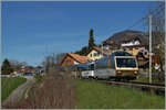 Ein GoldenPass Panoramic Express bei Planchamp.