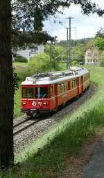 RhB/69380/rhb-be-44-515-als-s-bahn RhB Be 4/4 515 als S-Bahn kurz vor Reichenau-Tamins.  10.05.2010