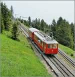 Rigi - Bahnen/99914/zwischen-rigi-kulm-und-rigi-staffel Zwischen Rigi Kulm und Rigi Staffel.  25. Mai 2007