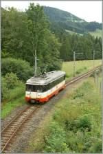 trn-cmn/151018/cmn-bde-44-n5-als-regionalzug CMN BDe 4/4 N°5 als Regionalzug 15 zwischen Les Brenests und Les Frêtes am 19. August 2010.