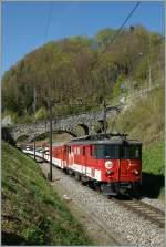 zb-zentralbahn/132868/zentralbahn-de-44-110-021-3-mit Zentralbahn De 4/4 110 021-3 mit dem IR 2219 von Interlaken nach Luzern am 9. April 2011 bei Niederried.