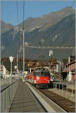zb-zentralbahn/162499/zb-de-110-001-5-mit-einem 'zb' De 110 001-5 mit einem Regionalzug nach Meringen in Brienz.  1. Oktober 2011