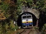 Taucherbrillen/149260/die-754-027-am-10102010-mit Die 754 027 am 10.10.2010 mit einem Personenzug unterwegs bei Böhmisch Eisenstein.